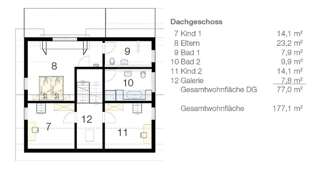Das Split-Level-Haus_Grundriss DG