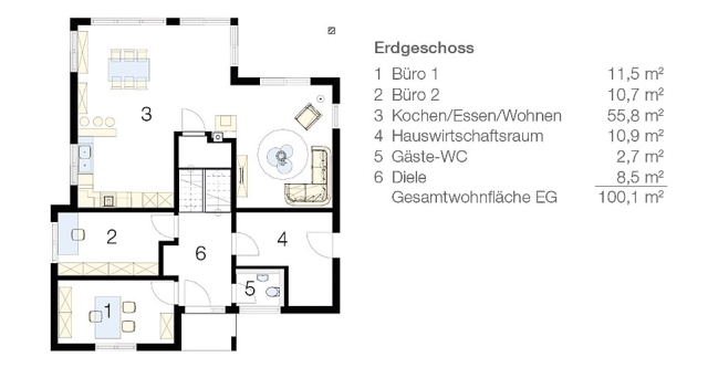 Das Split-Level-Haus_Grundriss EG